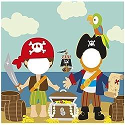 Photocall con diseño de pirata para fiesta.