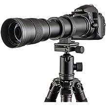 TOP-MAX® 420-800mm f/8.3-16 Super Tele Zoom Objektiv Teleobjektiv Zoomobjektiv Vario-Objektiv Lens für Canon EOS 1D, 5D, 6D, 7D, 10D, 20D, 30D, 40D, 50D, 60D, 100D, 300D, 350D, 400D, 450D, 500D, 550D, 600D, 700D, 1000D, 1100D, 1200D und mehr DSLR/SLR Kamera