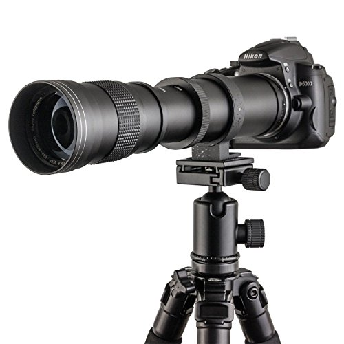 Fotga 420-800mm f/8.3-16 Super Tele Zoom Objektiv Teleobjektiv Zoomobjektiv Vario-Objektiv Lens für Canon EOS 1D, 5D, 6D, 7D, 10D, 20D, 30D, 40D, 50D, 60D, 100D, 300D, 350D, 400D, 450D, 500D, 550D, 600D, 700D, 1000D, 1100D, 1200D und mehr DSLR/SLR Kamera