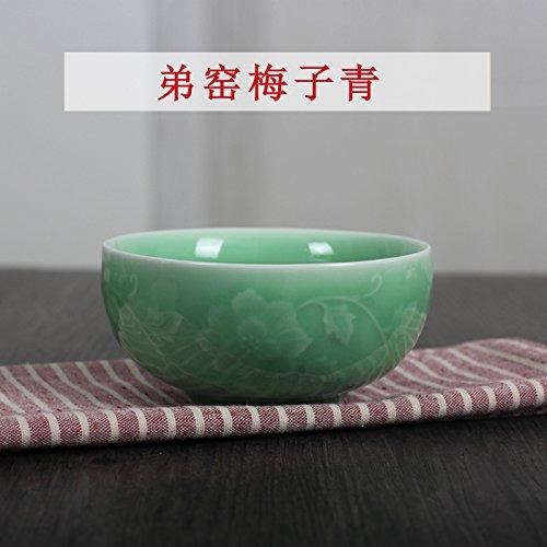 YUWANW Celadon Geschirr Geschirr Longquan Porzellan Geschirr Kreative Beilagen Mikrowelle Anwendung Der Chinesischen Reislöffel Echte, Bruder Brennofen Pflaume Blau M Schüssel Reis