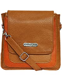 Fristo High Trend Women's Slingbag(Beige And Tan)