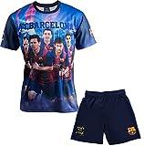 Ensemble Maillot + short Barça - NEYMAR MESSI SUAREZ XAVI INIESTA - Collection officielle FC BARCELONE - Taille enfant garçon 6 ans