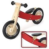 Balance Bike Draisienne Enfant Vélo sans Pédale Vélo pour Bébé en Bois grande Roues 10 Pouce Chopper en Rouge Neuf de BABY VIVO