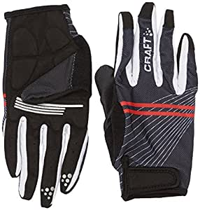 Craft Craft3 Acc Gants doigts long Noir/Blanc/Rouge FR : M (Taille Fabricant : 09 M)