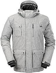Urban Beach Olen-Chaqueta de invierno para esquí y snowboard, impermeable, color verde, chaqueta, hombre, color Gris - gris, tamaño XL