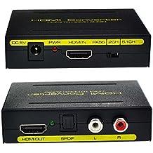 Itian HDMI a HDMI + Audio vs óptico SPDIF RCA L / R del Adaptador del Convertidor del Divisor del Audio