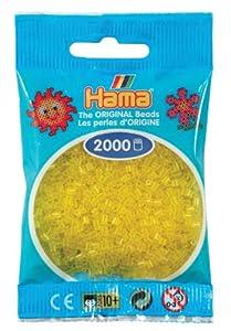 Desconocido Hama Perlen 501-14 - Mini Perlas Transparentes 2.000 Unidades / Amarillo Importado de Alemania