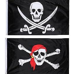 Bandera de pirata para fiesta, 2 unidades.