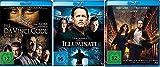 3 Blu-Rays - Dan Brown Set: Illuminati + The Da Vinci Code - Sakrileg + Inferno im Set - Deutsche Originalware [3 Blu-rays] -