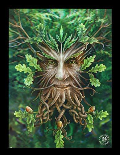 Oak King Poster (Unbekannt Fantasy 3D Lentikular Bild mit Waldgeist - Oak King   Kunstdruck by Anne Stokes)