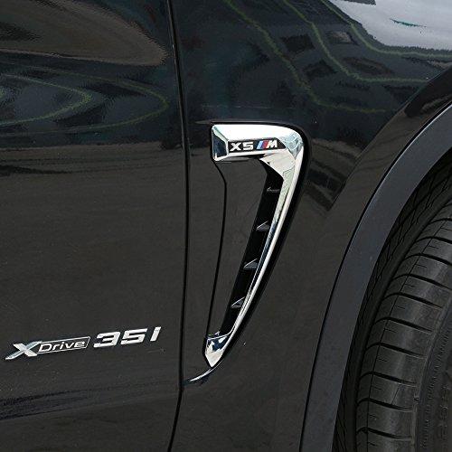 2/Set ABS KFZ Front Fender Seite Air Vent Cover Trim car-styling Shark Kiemen Side Vent Aufkleber (Aufkleber Kfz-zubehör)