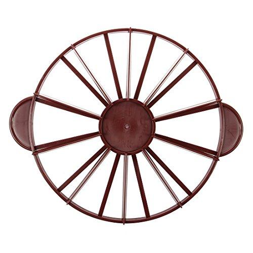 SODIAL(R)Tranche de gateau tarte 10 / 12 Pieces Diviseur de marqueur de part egale Rouge fonce