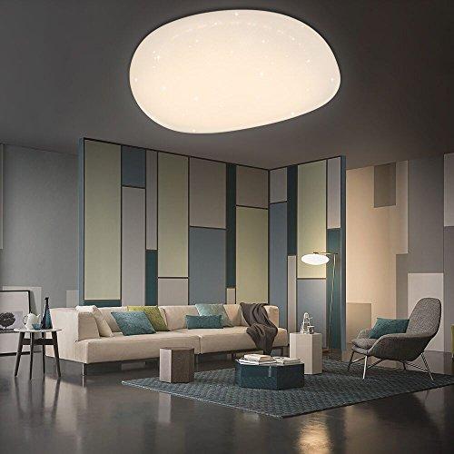 Hengda 60W Farbwechsel Deckenlampe LED Deckenleuchte Lampen ideal für Badezimmer Balkon Flur Küche Wohnzimmer Badezimmerlampe -