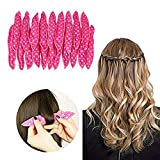 Bigoudi Bigoudis Magique 18pcs Cheveux Coiffure Outil pour Cheveux,Rouleaux de Mousse Curlers Night Sleep Flexibles éponge douce Rouleaux de Cheveux longs, courts, épais et fins Spiral Curls