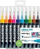 Molotow Grafx Aqua Ink Pump Softliner (Basic-Set 1, Strichstärke: 1 mm) 10 Stück sortiert