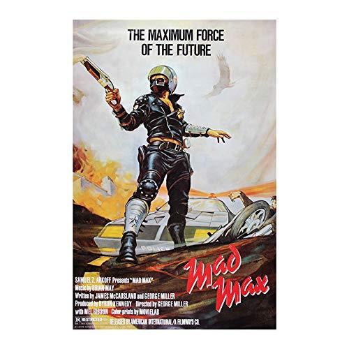 tzxdbh Klassischer Film Mad Max Silk Plakat 1979 Film Wandkunst Plakat Mel Gibson Retro Stoff Drucken Männerzimmer Hauptdekoration32X40