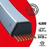 Courroie tondeuse 4L950 prix éco, Kevlar Trapézoïdale 12,7 mm x 2413 mm - Pièce neuve
