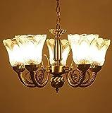 #8: R@DIANT Antique Design Brass Chandelier - 5 Lamps