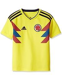adidas Colombia Camiseta de Equipación, Niños, Amarillo (amabri/Maruni), 176