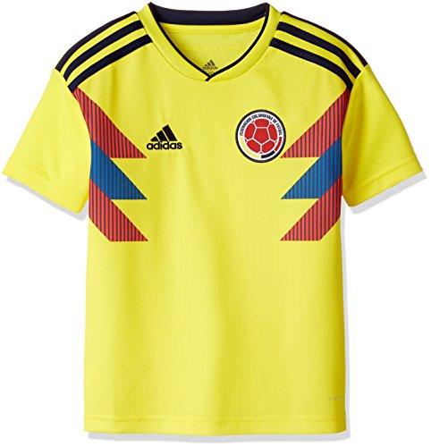 adidas Kinder Kolumbien Replica Heimtrikot, Byellow/Conavy, 164.0 - Kolumbien Fußball Adidas