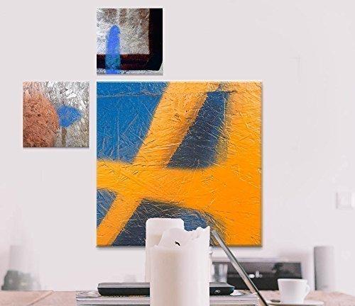 Fotokunst auf Alu-Dibond Butlerfinish® - 2x 20 x 20 cm, 1x 50 x 50 cm - Aluminium mit gebürstetem Oberflächenschliff Bild Kunst Büro Geschenk Bad Balkon Terasse Küche