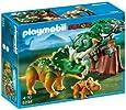 Playmobil 5234 Dinos Explorer with Triceratops and Baby Dinosaur