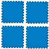 Tappeto sottopiscina in polietilene, cm. 50X50 8 pezzi
