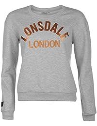 Lonsdale Femme Sweatshirt Sweater Top Haut Decontracte Col Rond Manche Longue