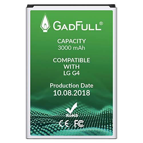GadFull Batería para LG G4 | Fecha de fabricación del 2018 | Corresponde al Original BL-51YF | Modelo de Smartphone LG G4 | G4 Dual Sim | G4 Stylus | H815 | H818P | H635