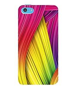 Fuson 3D Printed Coloured Pattern Designer Back Case Cover for Apple iPhone 5C - D976