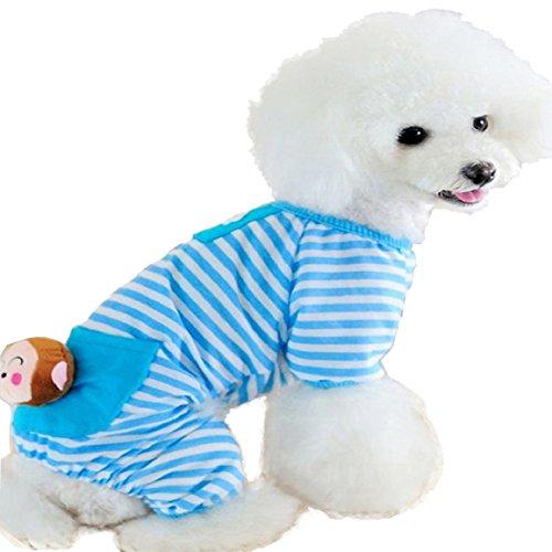 Culater® Piccolo Cane Vestiti Cappotto Strisce Pigiama