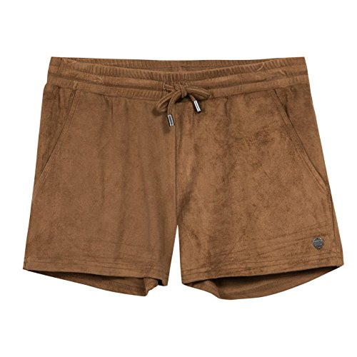 b-karo-noir-peche-short-fille-marron-camel-small-taille-fabricant-s