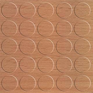 GleitGut Selbstklebende Abdeckkappen für Möbel - Durchmesser 14 mm - Schrauben-Abdeckungen (Buche)
