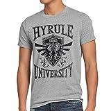 style3 University of Hyrule Herren T-Shirt, Größe:S;Farbe:Grau meliert