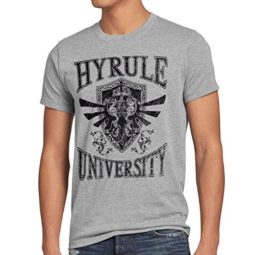 style3 University of Hyrule Herren T-Shirt, Größe:XL;Farbe:Grau meliert
