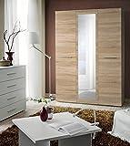 Juub TOP Garderobe Schlafzimmer Schrank Kleiderschrank 3 Türig Hochglanz Spiegel TOP - T-3 DSL