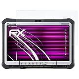 atFolix Glasfolie kompatibel mit Panasonic ToughBook CF-D1 Panzerfolie, 9H Hybrid-Glass FX Schutzpanzer Folie