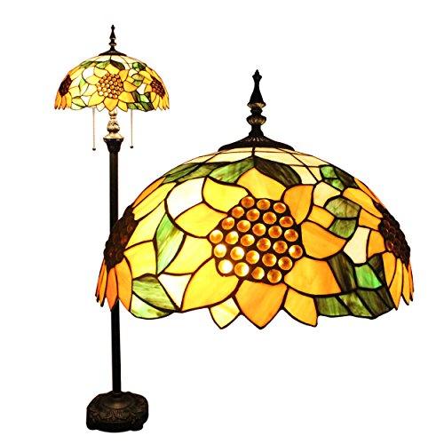 Korn Bronze (Gweat Tiffany 16-Zoll-Sonnenblume-Korn-Europäer-Hirtenart-eleganten Luxus kreative Handarbeit Glasmalerei Tiffany Stehleuchte)