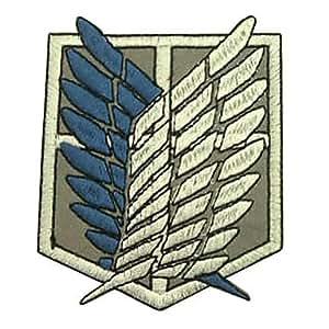 Shingeki Pas Kyojin Attaque sur Titan Recon Corps Logo Cosplay broderie insigne de correction