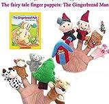 EEvER Marionette da Dita, Dieci Pezzi l' omino di Pan di Zenzero Story Telling Sacco Bag Finger Puppets