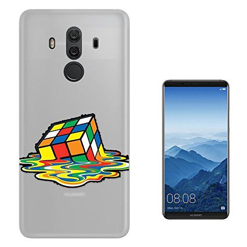 "Preisvergleich Produktbild c01571 - Melting Rubik cube Design Huawei Mate 10 Pro 6"" Fashion Trend Silikon Hülle Schutzhülle Schutzcase Gel Silicone Hülle"