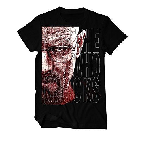 Heisenberg I Am The One Who Knocks T-Shirt Herren schwarz Schwarz