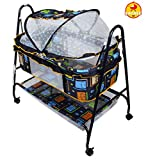 Baybee BabyNest Swing Cradle (Dark Blue)