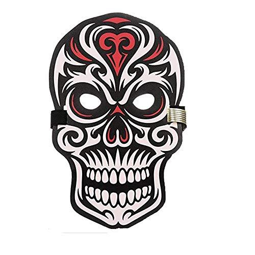 (Sound Reaktive LED Halloween Masken,Saingace Sound Reactive LED Maske Tanz Rave Licht Einstellbare Maske Für Festival,Cosplay,Halloween,Kostüm,Batterie Angetrieben (H))