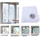 Insekten Moskitonetz abnehmbar und waschbar Fenster Insektenschutz Netz mit Klebeband für Tür Fenster, Insektenschutz