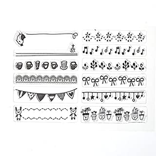 Amazingdeal365 Briefmarke Transparente Silikonstempel Set Text - Clear Stamps - Stempel -Mit Vielfalt-teilig - Schneiden Schablonen (30)