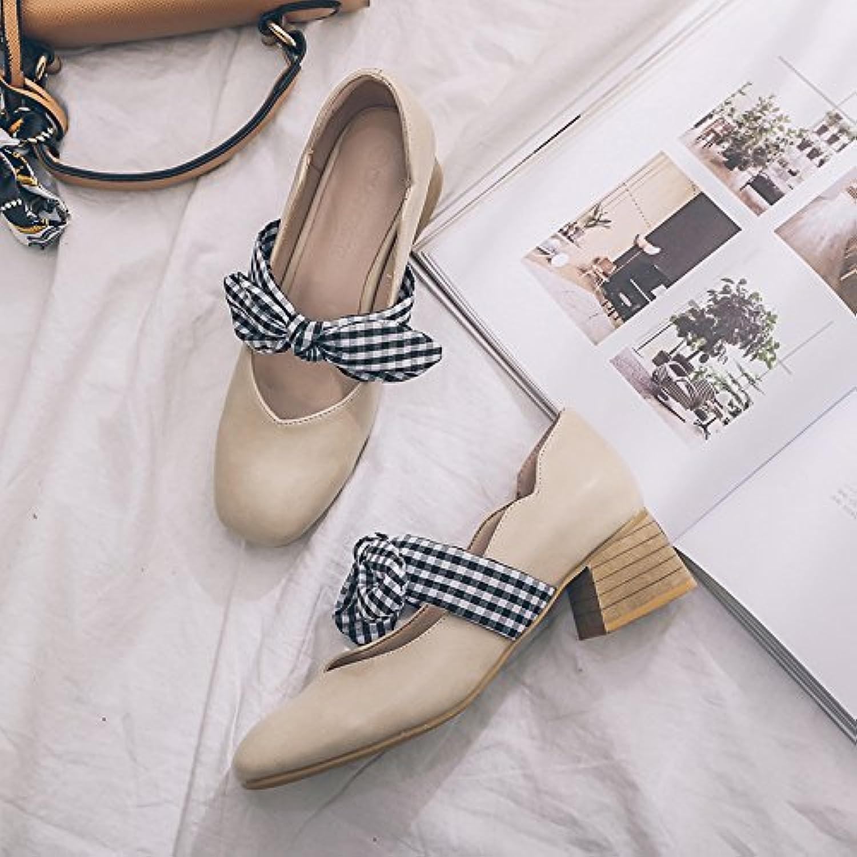 gaolim Spring quadratisch in die Damen Singles Schuhe mit Das Licht der Frauen Schuhe Fliege Single Schuhe Buchseö