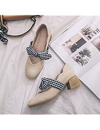 GAOLIM Plaza De Primavera En Los Singles Femeninos Zapatos con La Luz De Zapatos De Mujer Pajarita Solo Zapatos...