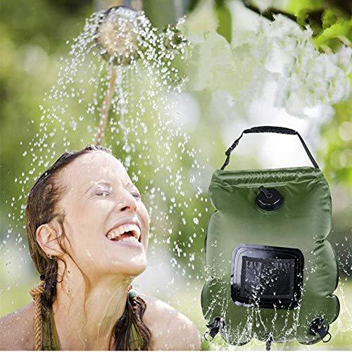 FDSEP Outdoor tragbare Solar-Heißwasserbad Duschtasche 20L Wilde Camping Dusche Badetasche