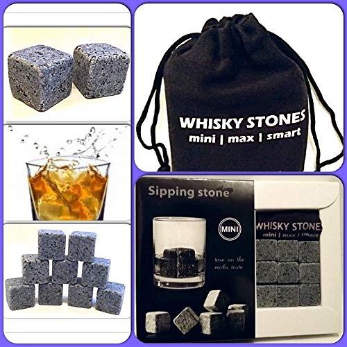 Spirituosen Möbel & Wohnen 9x Whiskey Steine Whiskeysteine Kühlsteine Speckstein Eiswürfel Natursteine 100% Original